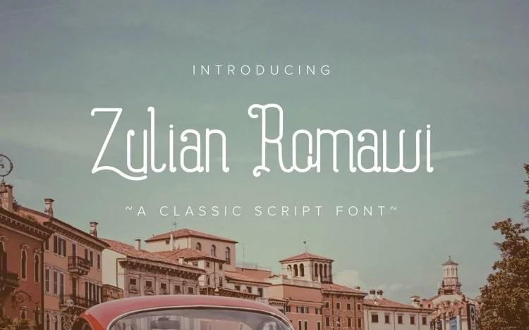 Zulyan Romawi Display Font