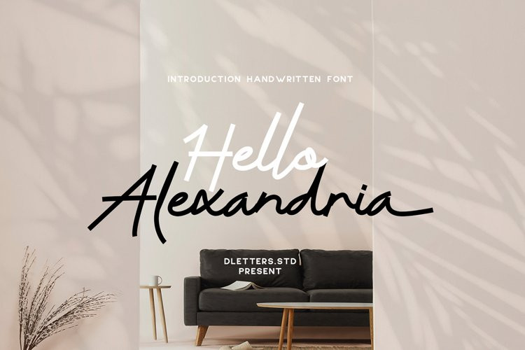 Hello Alexandria Script Font