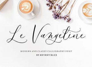 Le Vangeline Calligraphy Font