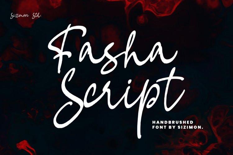 Fasha Handwritten Font