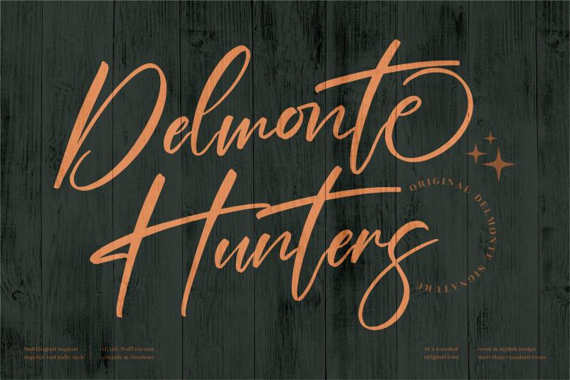 Delmonte Hunters Signature Font