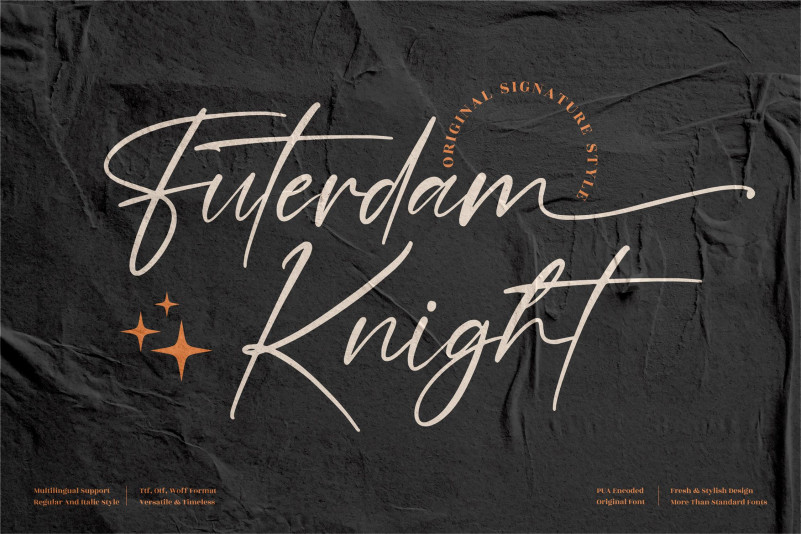 Futerdam Knight Signature Font
