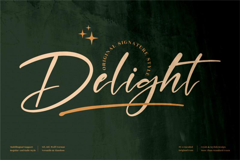 Delight Signature Font