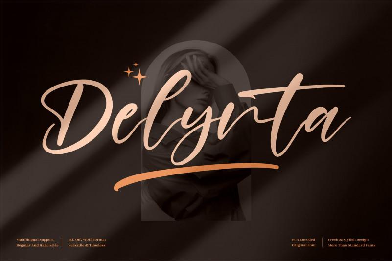 Delynta Script Font