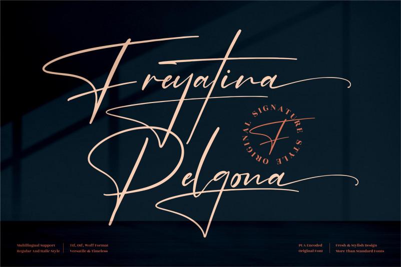 Freyatina Pelgona Script Font