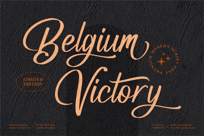 Belgium Victory Calligraphy Font
