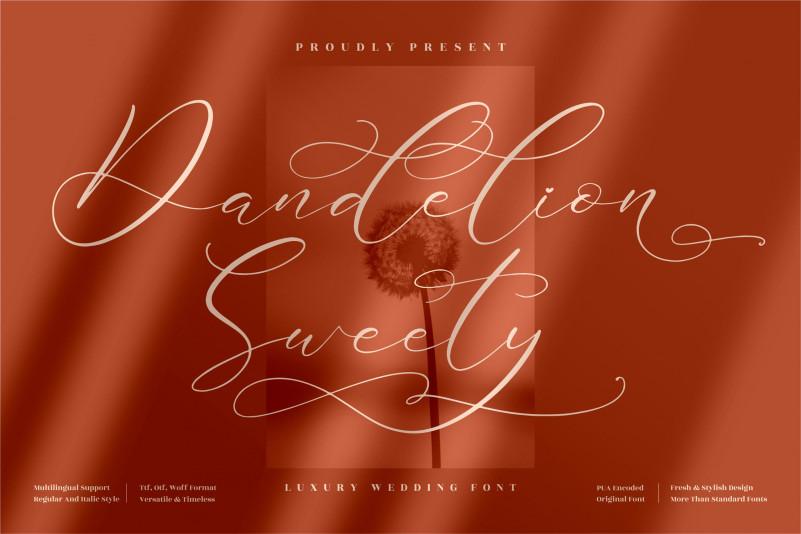 Dandelion Sweety Script Font