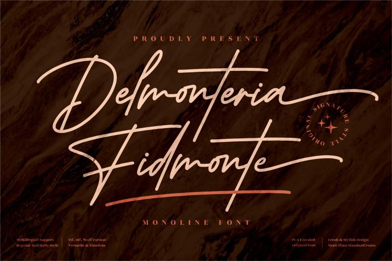 Delmonteria Fidmonte Script Font