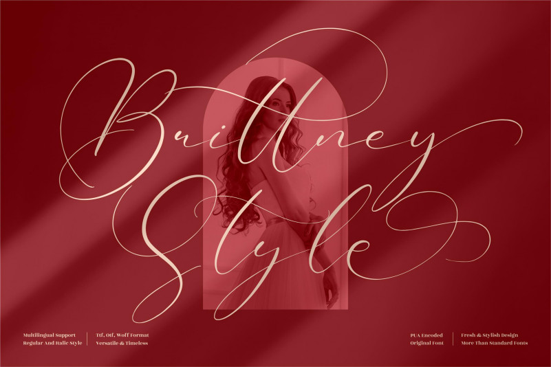Brittney Style Script Font