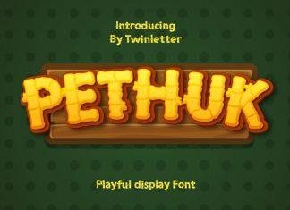 Pethuk Display Font