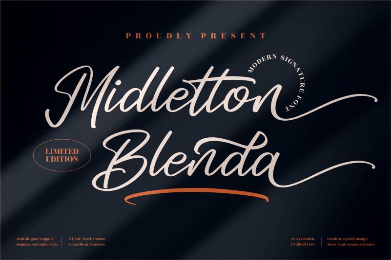Midletton Blenda Signature Font