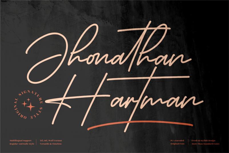 Jhonathan Hartman Handwritten Font