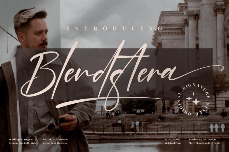 Blendstera Script Font