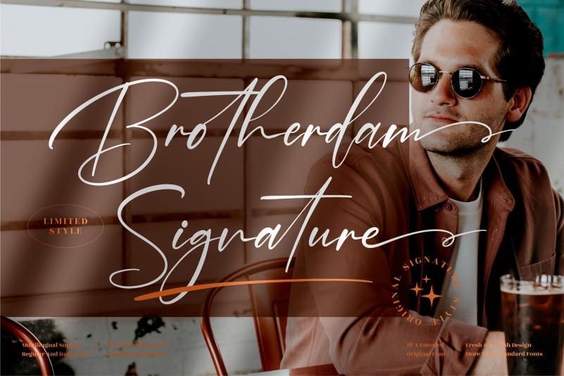 Brotherdam Signature Font