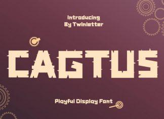 Cagtus Display Font