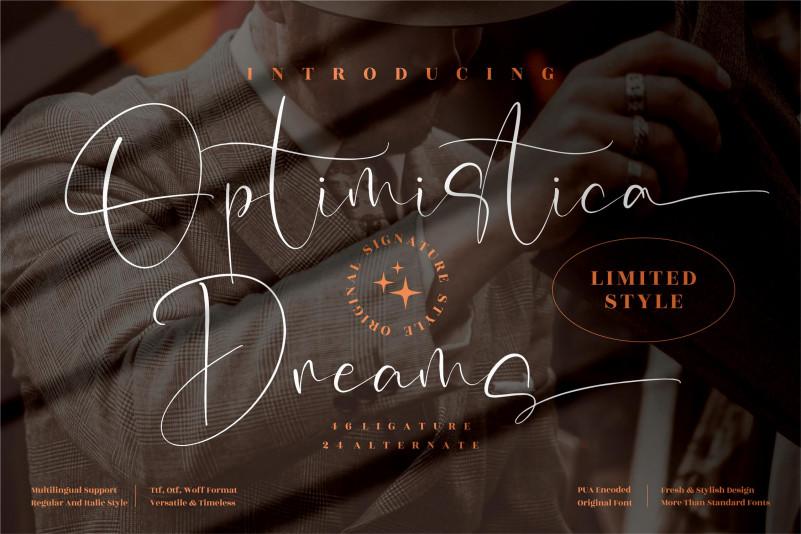 Optimistica Dreams Signature Font