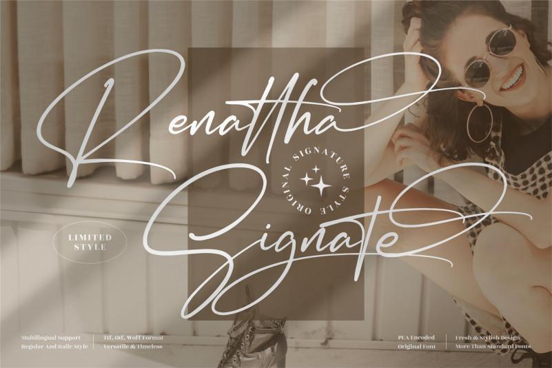 Renattha Signate Script Font
