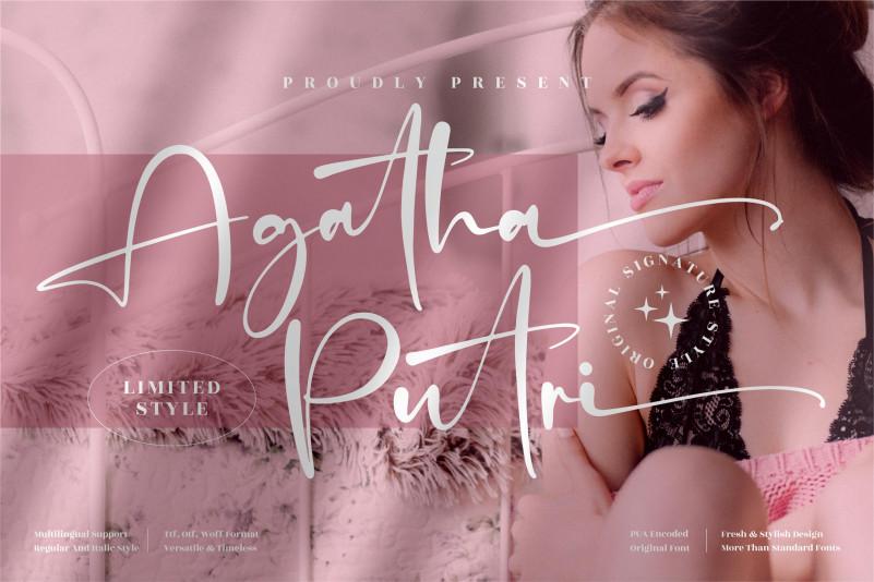 Agatha Putri Script Font