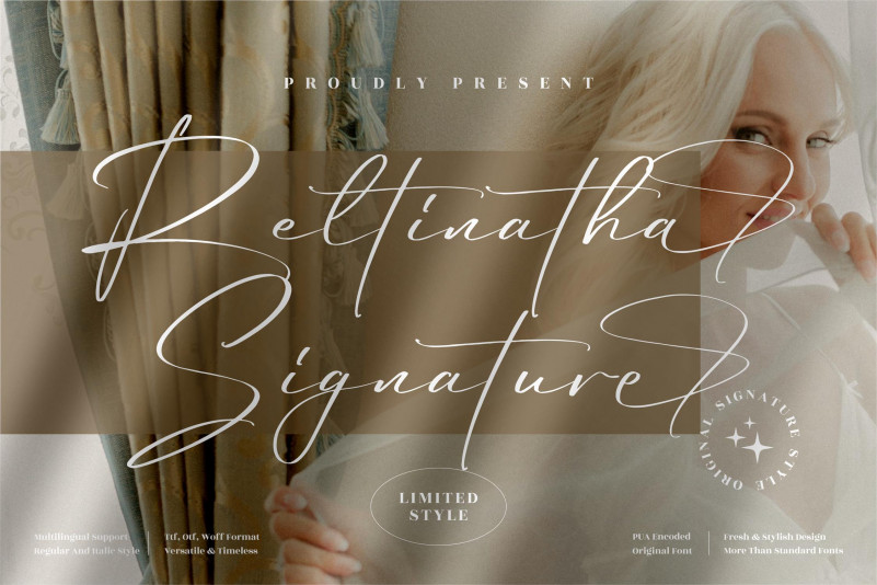 Reltinatha Signature Font