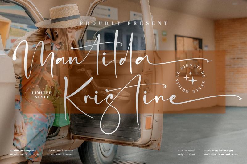 Mantilda Kristine Script Font