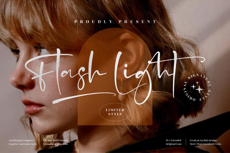 Flash Light Script Font