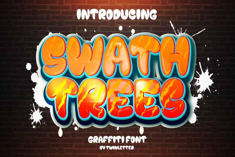 Swath Trees Display Font