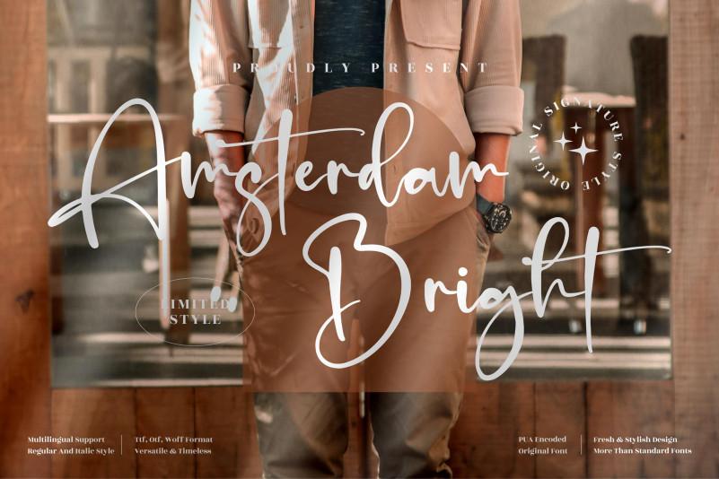 Amsterdam Bright Script Font
