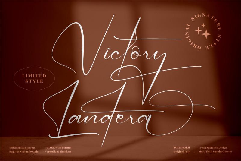 Victory Landera Handwritten Font