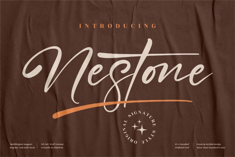 Nestone Script Font