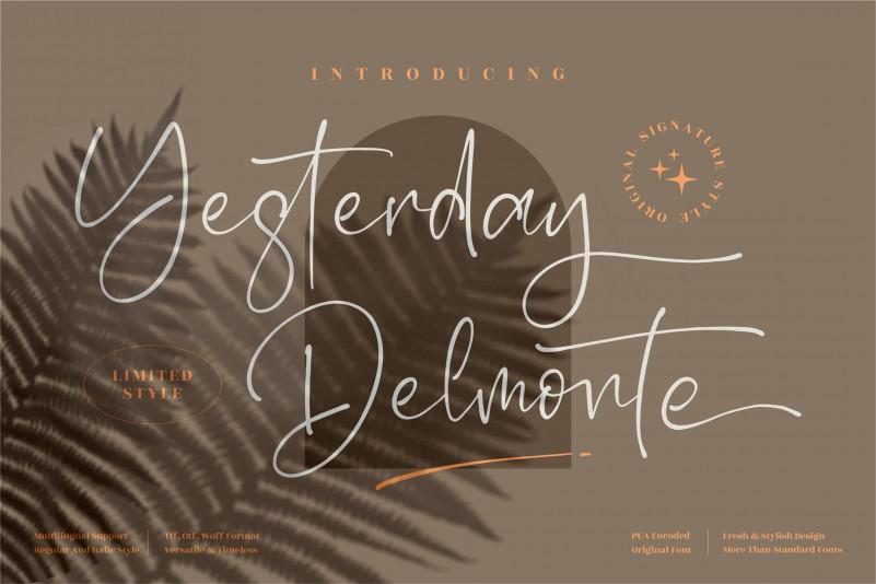 Yesterday Delmonte Script Font