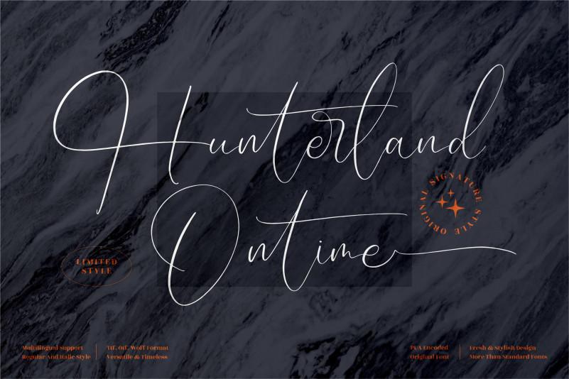 Hunterland Ontime Script Font