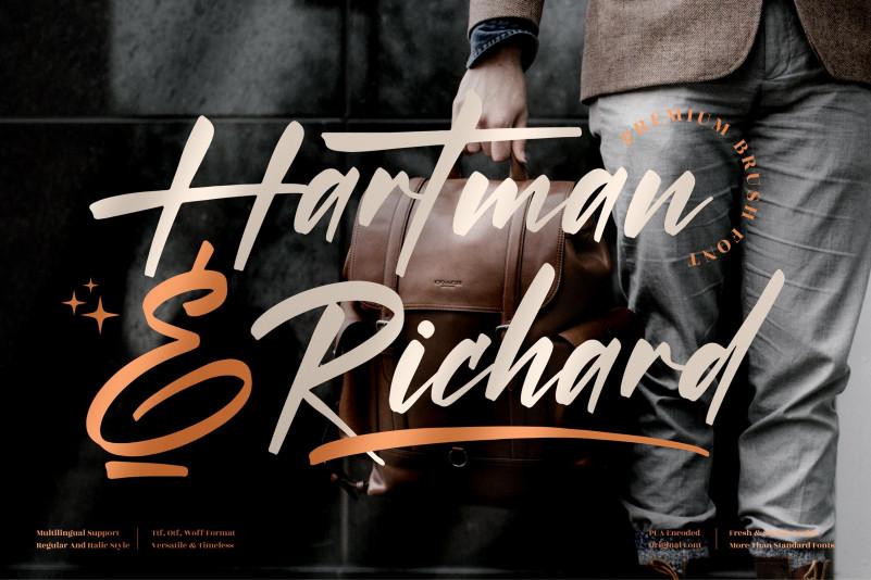 Hartman & Richard Calligraphy Font