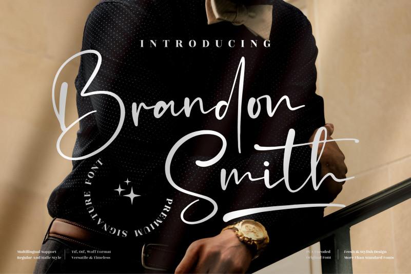 Brandon Smith Script Font