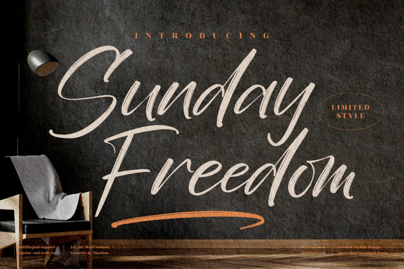 Sunday Freedom Brush Font