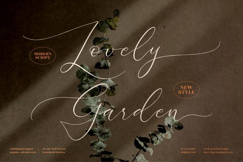 Lovely Garden Script Font