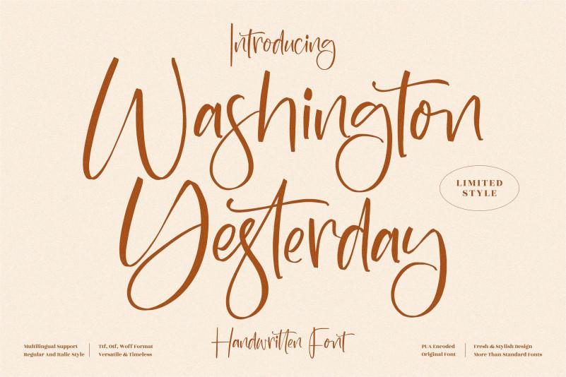 Washington Yesterday Script Font