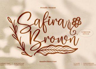 Safira Brown Handwritten Font