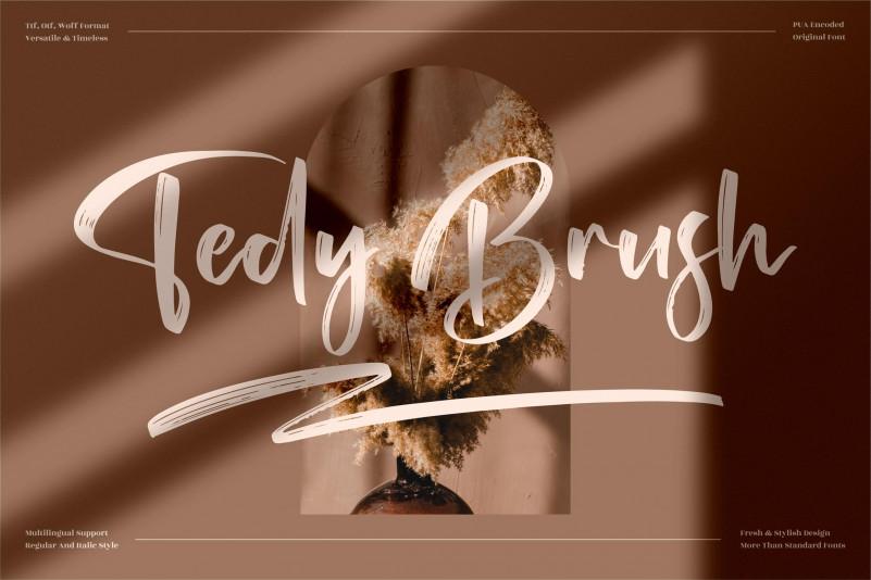 Tedy Brush Font