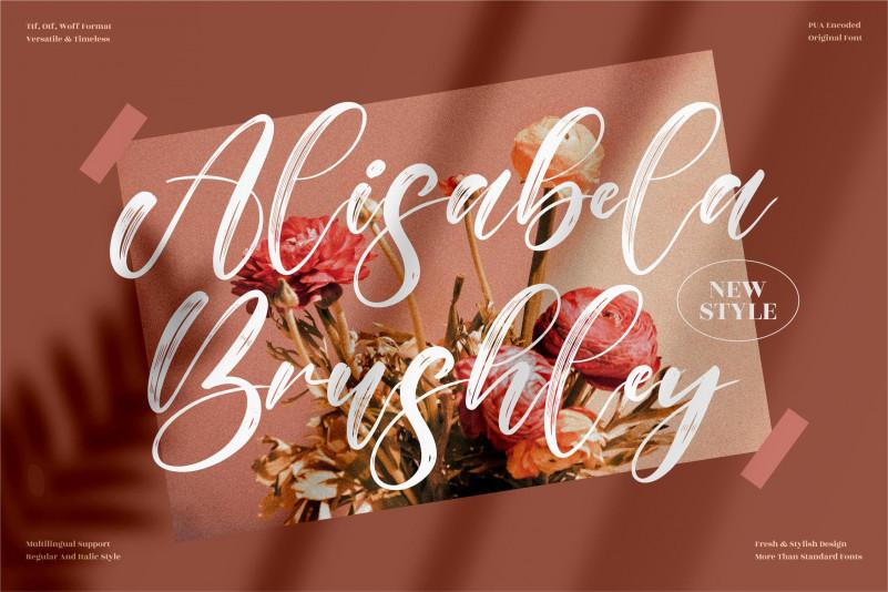 Alisabela Brushley Brush Font