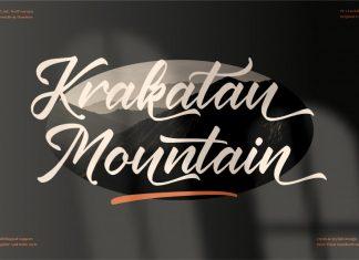 Krakatau Mountain Calligraphy Font