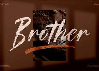 Brother Brush Typeface