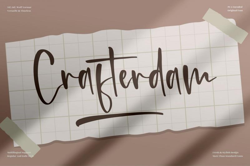 Crafterdam Handwritten Font