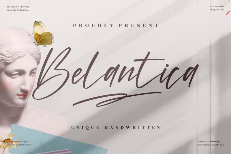 Belantica Handwritten Font