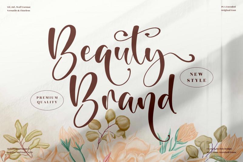 Beauty Brand Script Font