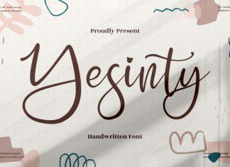 Yesinty Handwritten Font