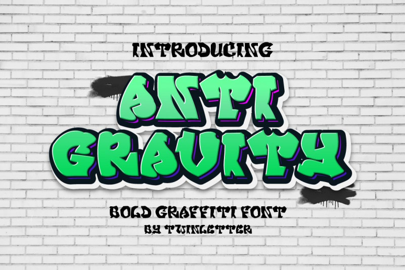 Anti Gravity Display Font