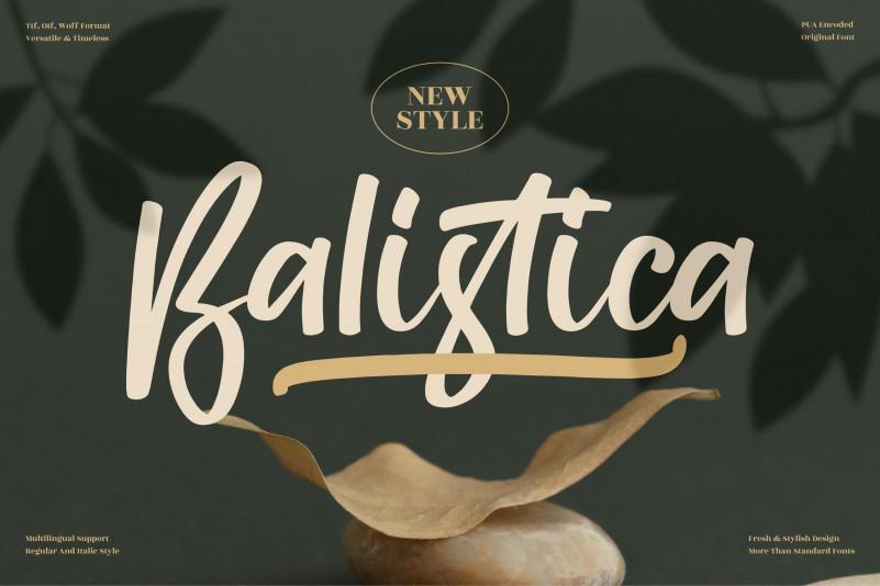 Balistica Handwritten Font
