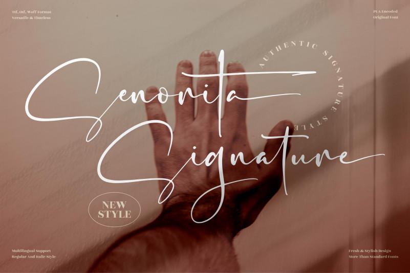 Senorita Signature Font