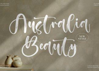 Australia Beauty Brush Font