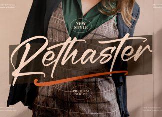 Rethaster Calligraphy Font